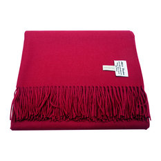 Baby Alpaca Throw Blankets, Solid Color All Natural, Fuchsia