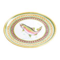 Galleyware Trout Melamine Oval Platter