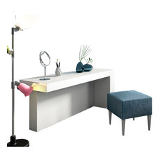 "T23 Bedroom Make-up Vanity 3-Piece Set 55"", Glossy Finish"