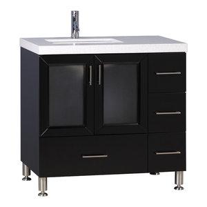 "Westfield 36"" Single Sink Vanity, Espresso"