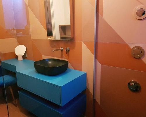 Bagno con piastrelle arancioni strasburgo foto idee arredamento