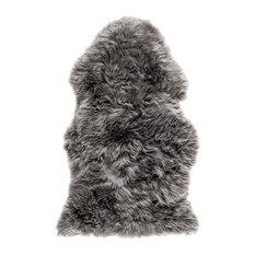 New Zealand Sheepskin Pelt Rug, 60x120 cm, Grey