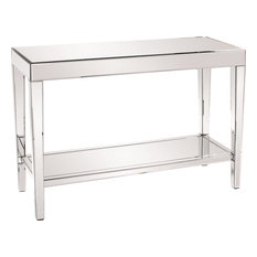 Howard Elliott Orion Mirrored Console Table With Shelf