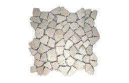 """12""""x12"""" Ecru White Mosaic Tile"""