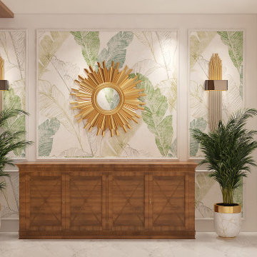 Feature Wall with Console | Prestige White Meadows | Artis Interiorz | Banga