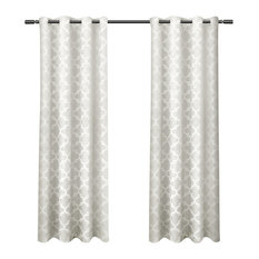 "Cartago Insulated Blackout Grommet Curtain Panels, Set of 2, 54"" x 96"", Vanilla"