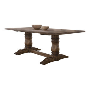 Acme Leventis Dining Table, Weathered Oak