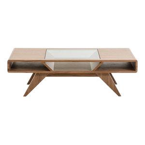 Mid Century Modern Classic Coffee Table Walnut Wood