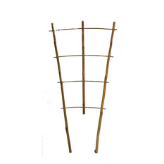 "Set of 5 Bamboo Ladder Trellis, 24"", 3 Tiers"