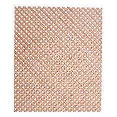 "23-5/8""H x 47-1/4""W x 1/8"" Thick Diagonal Mini Lattice Insert Panel, Cherry"