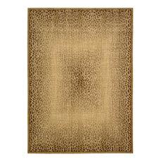 "Nourison Radiant Impressions Lk06 Animal Print Rug, Beige, 5'6""x7'5"""