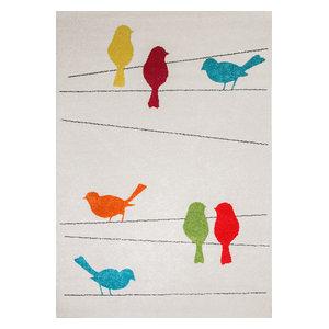 Race Tweet Children's Rug, 135x190 cm
