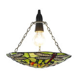 Traditional Dragonfly Tiffany Glass Easy-Fit Pendant Shade, Green
