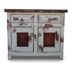 Foxden Decor Vanity With Oxidized Metal Doors 24 X20 X32
