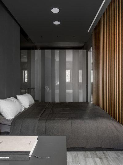 Современный Спальня by Архитектурная студия QUADRUM