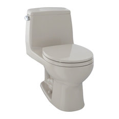 Toto Eco UltraMax 1-Piece Round Bowl 1.28 GPF Toilet, Bone