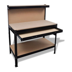 vidaXL - Workbench With Pegboard and Drawer - Potting Benches