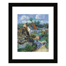 """Houses at Auvers"" Framed Print, 13""x16"""