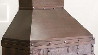 Copper range hood by The Metal Peddler