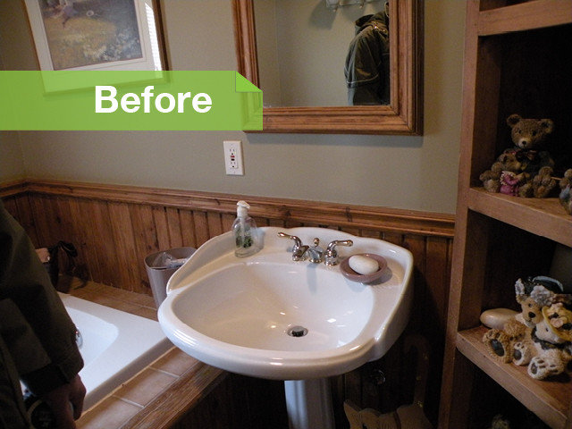 Traditional  Bathroom Before