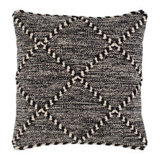 """Zanafi ZNF-001 Pillow Cover, Black/White, 18""""x18"""", Pillow Cover Only"""