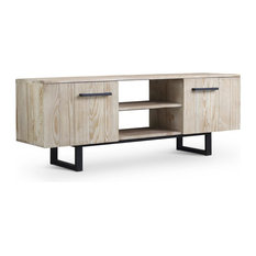 Brikk - Saratoga Reclaimed Wood Low TV Media Stand - Entertainment Centers and Tv Stands