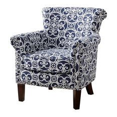 Madison Park Brooke Tight Back Club Chair, Navy Blue