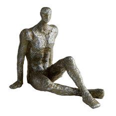 CYAN DESIGN Sculpture Statue Andreas Gold Leaf Rustic Iron