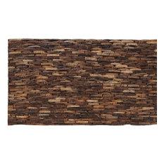 """16.54""""x8.27"""" Cocostone Mahogany Coconut Shell Wall Tiles, Set of 12"""