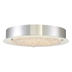 Platinum Collection Blaze Polished Chrome Finish, Large Flush Mount