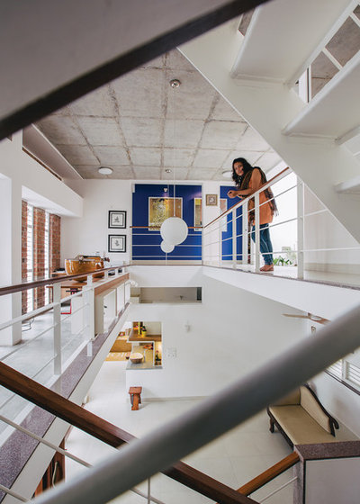 Contemporary Staircase by Gaurav Roy Choudhury Architects