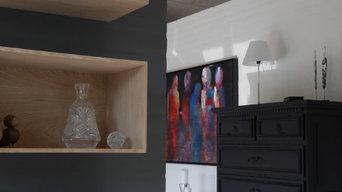 Kundens ønske - en indretning som passer til villaens specielle arkitektur