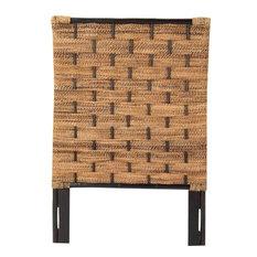PADMAS PLANTATION Headboard Queen Natural Abaca Weave Grown Hardwood