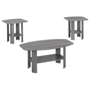 3PCS Set//Dark Taupe HomeRoots Particle Board,Laminate Table Set