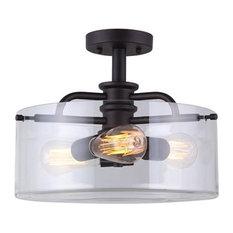 Canarm ltd flush mount ceiling lights houzz canarm ltd canarm isf679a03 albany 3 light 14 12 semi aloadofball Choice Image