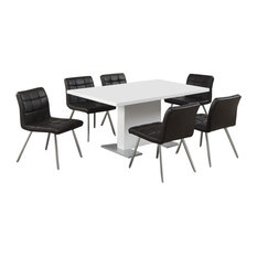 """Dining Table, 35""""x 60"""", High Glossy White"""