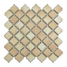 "12.38""x12.5"" Antaeus Mosaic Floor/Wall Tiles, Set of 10, Beige Mix"