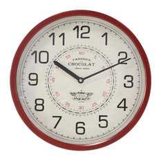 Traditional Iron Round Fabrique Chocolat Wall Clock