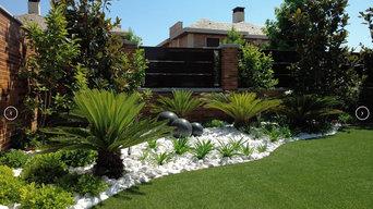 Jardín Privado Fuente Esferas