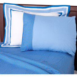 Cool Contemporary Kids Bedding Simplicity Blue Sheet Set