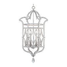 Fine Art Lamps Prussian Neoclassic Silver 6 Light Chandelier