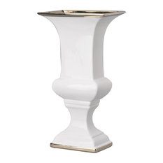 "Elliette Decorative Urn Vase, 7.5""x5""x14"""