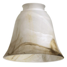 Quorum 6 in. Ceiling Light Accessory in Faux Brown Alabaster