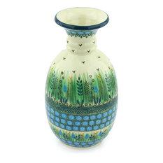 """Polmedia Polish Pottery 8"""" Stoneware Vase"""