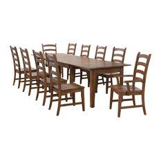 Sunset Trading 11 Piece Rectangular Extendable Table Dining Set