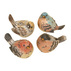 Polystone Bird, 4-Piece Set