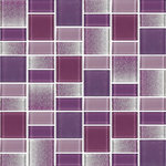 """Rocky Point Tile Co - Fusion Purple Glass Mosaic Tile, 12""""x12"""" - These tiles are a blend of 1 7/8"""" x 1 7/8"""" squares and 7/8"""" x 1 7/8"""" rectangles. The mix includes various shades of purple in a smooth high gloss finish as well a textured finish. A nice choice for anyone looking for a pop of color in their backsplash or bathroom."""