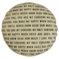 Floor Pouf - You Are My Sunshine with Dots
