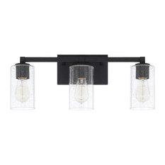 Capital Lighting Fixture Company - Ravenwood 3-Light Vanity, Black Iron - Bathroom Vanity