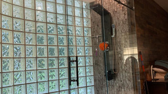 Large Shower with Sliding Door